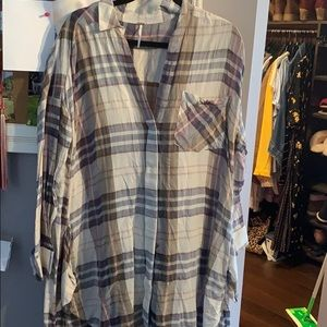 Free people oversized flannel